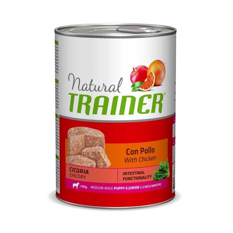 Natural Trainer Puppy Junior Medium Maxi Pollo umido 400 g