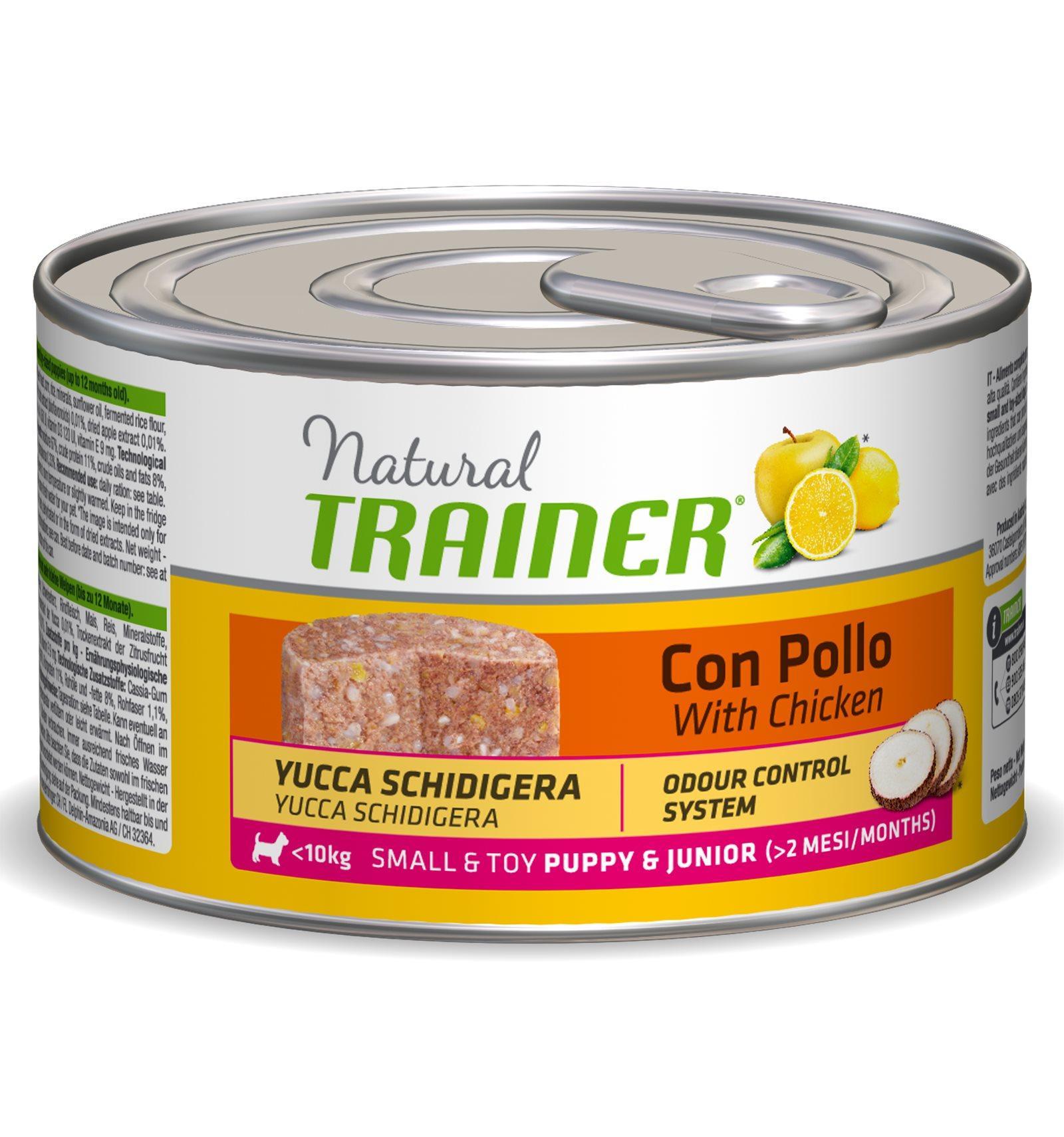 Natural Trainer Puppy Mini Pollo umido 150 g