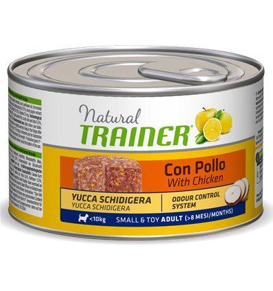 Natural Trainer Adult Small & Toy con Pollo riso ed Aloe umido 150 g