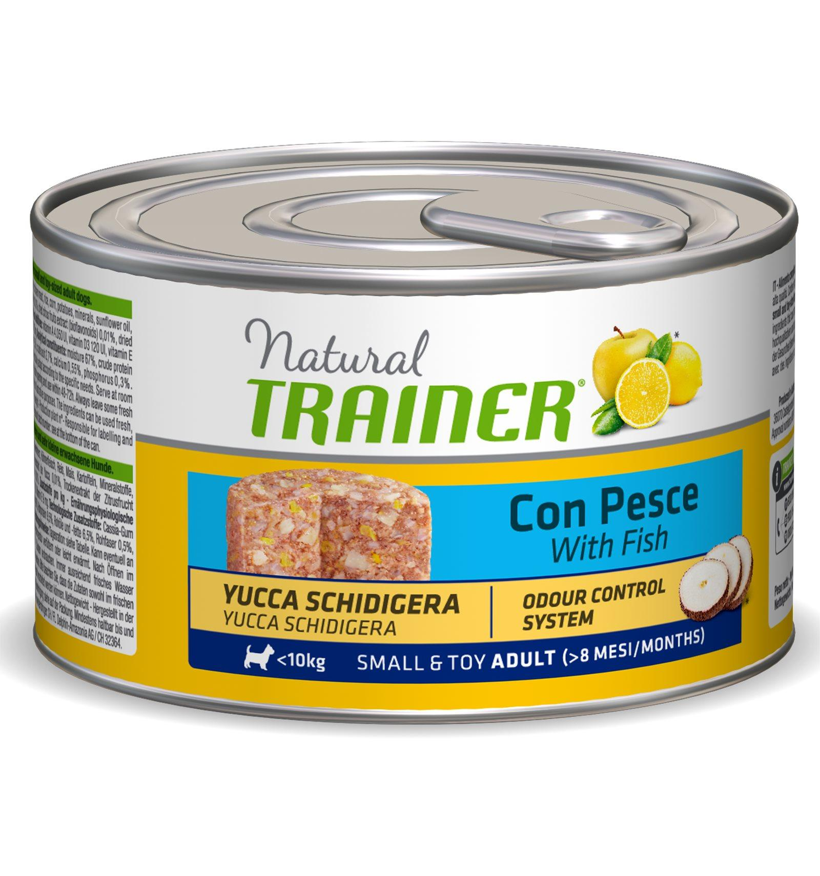 Natural Trainer Adult Small & Toy con Pesce umido 150 g