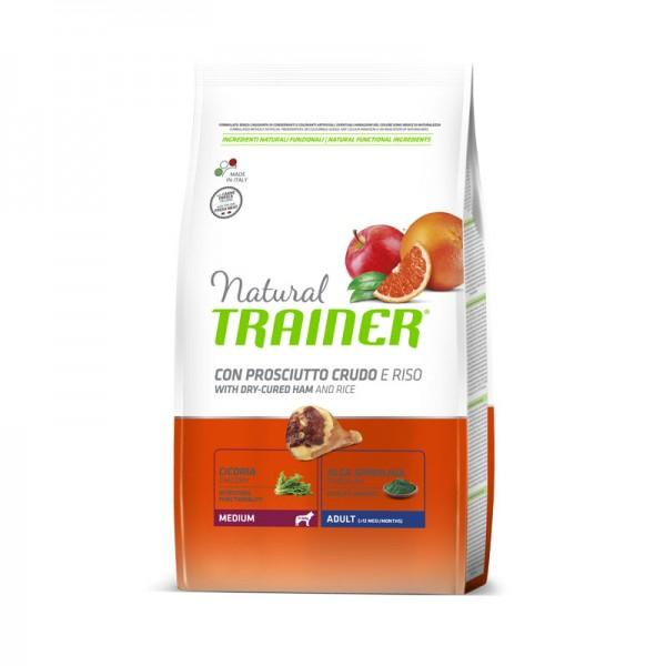 Natural Trainer Adult Medium Prosciutto Crudo e riso 3 KG