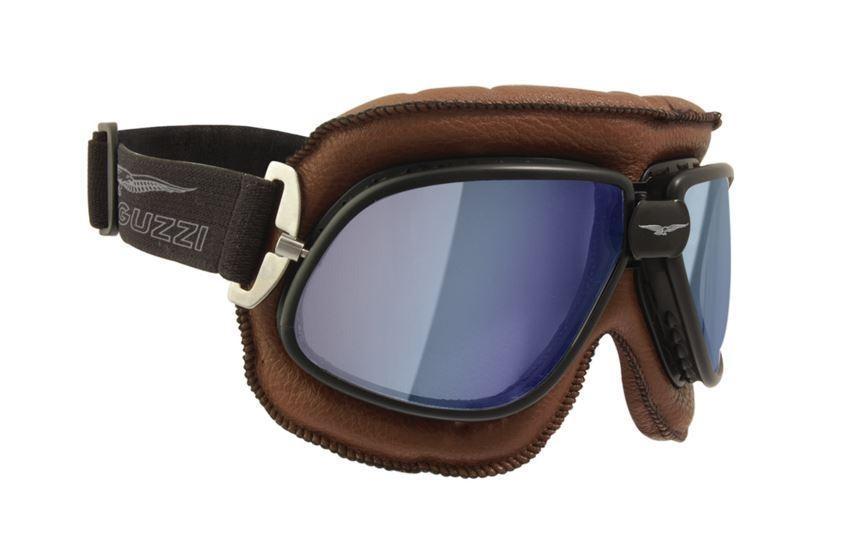 autentico garanzia di alta qualità qualità perfetta MOTO GUZZI VINTAGE RIDER Occhiali per Casco - Marrone ...