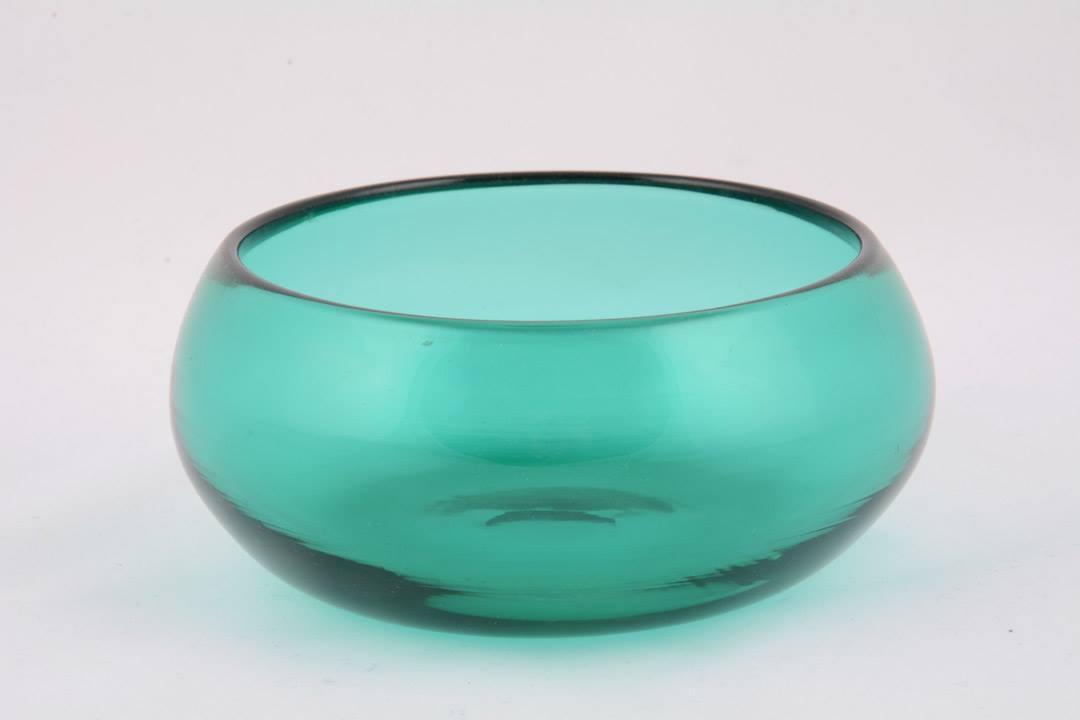Pisside patena in cristallo di Murano verde