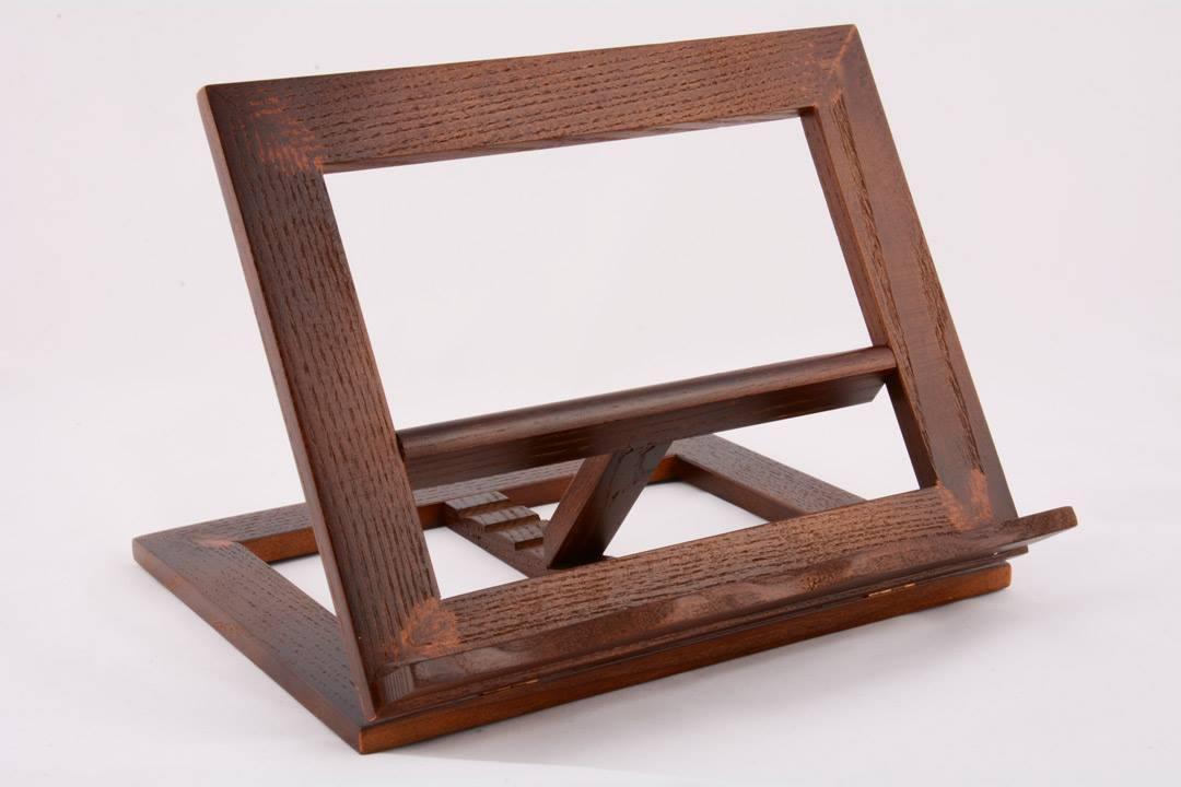 Leggio da tavolo in legno scuro 25 x 20 cm