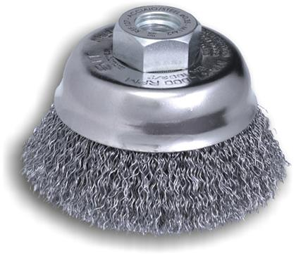 Spazzole a Tazza per Smerigliatrice a filo ondulato Ø 80mm