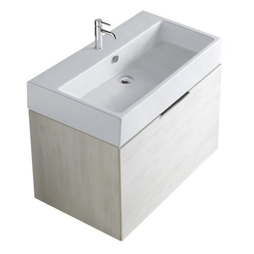 Mobile da bagno con lavabo Plus design Galassia cm 80 x 47