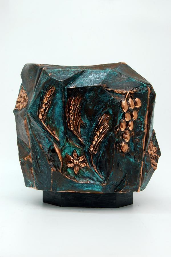 Tabernacolo in bronzo ramato e brunito h 30 cm LOS4501