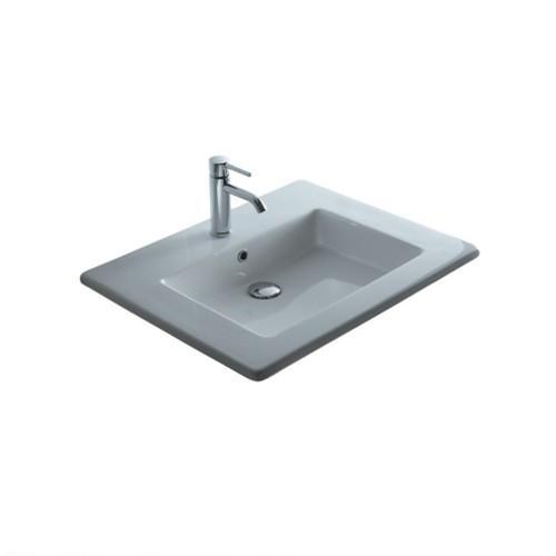 Lavabo per il bagno da incasso/soprapiano Plus Galassia cm 71 x 51