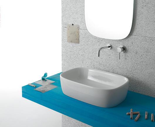 Lavabo appoggio per il bagno cm 55 x 37 Genesis Globo