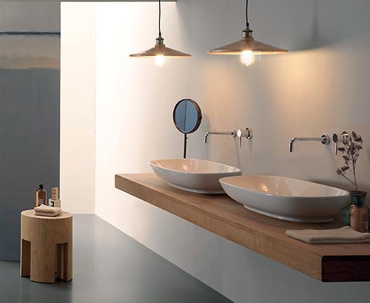 Lavabo da appoggio per il bagno cm 70 x 37 Stockholm Globo