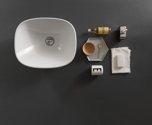 Lavabo da appoggio per il bagno cm 45 x 37 Stockholm Globo