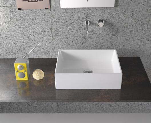 Lavabo da appoggio per il bagno cm 50 x 37 Forty3 Globo