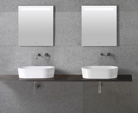 Lavabo da appoggio per il bagno cm 60 x 35 Forty3 Globo