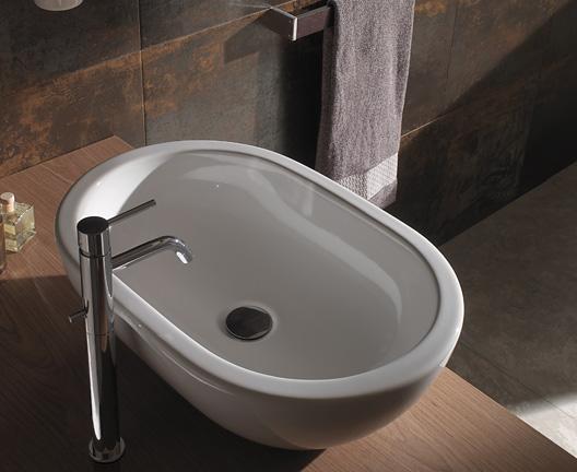 Lavabo da appoggio per il bagno cm 60 x 40 Forty3 Globo