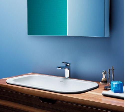 Lavabo a incasso Azzurra Glaze cm 50 x 40