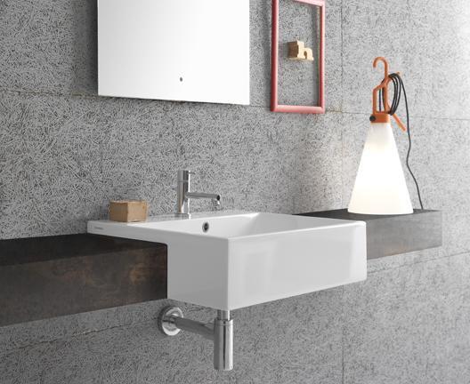 Lavabo da incasso soprapiano per il bagno cm 55 x 47 Forty3 Globo