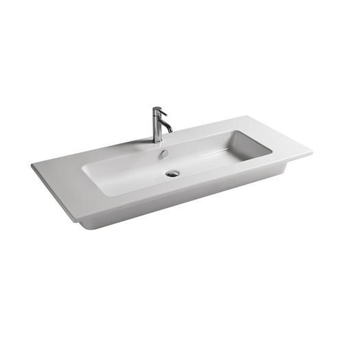 Lavabo sospeso per il bagno cm 101 x 46 Eden Galassia
