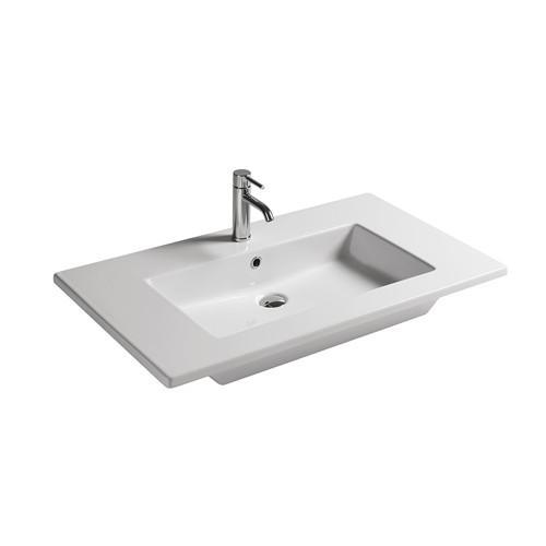 Lavabo sospeso per il bagno cm 91 x 46 Eden Galassia