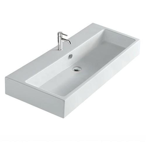 Lavabo sospeso per il bagno cm 100 x 48 Plus Galassia