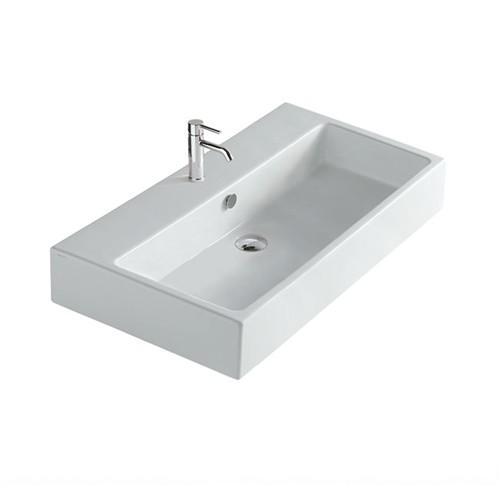 Lavabo sospeso per il bagno cm 80 x 48 Plus Galassia