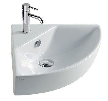 Lavabo per il bagno monoforo angolare cm 45 M2 Galassia