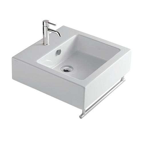 Lavabo sospeso per il bagno cm 48 x 48 Plus Galassia