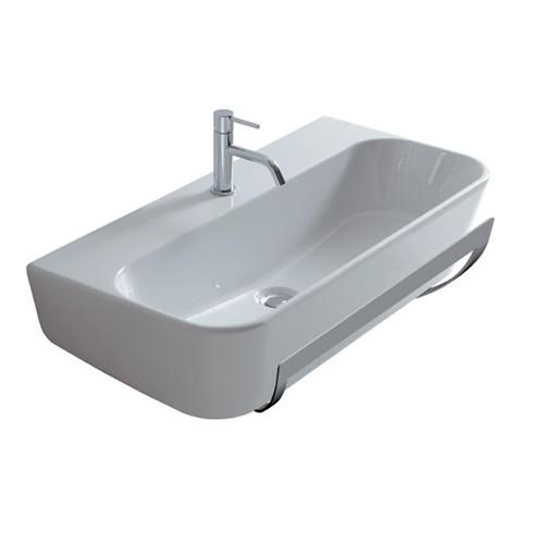 Lavabo monoforo sospeso per il bagno cm 85 x 44 Meg11 Galassia