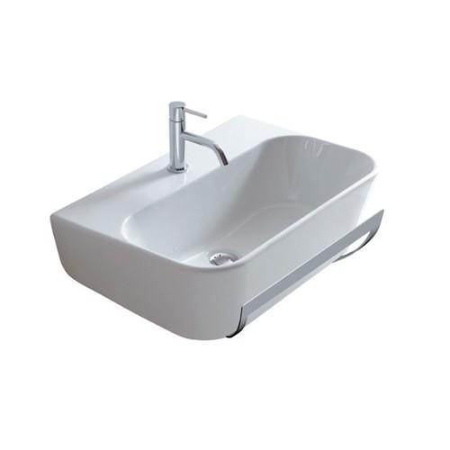 Lavabo monoforo sospeso per il bagno cm 75 x 44 Meg11 Galassia