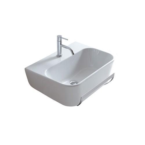 Lavabo monoforo sospeso per il bagno cm 65 x 44 Meg11 Galassia