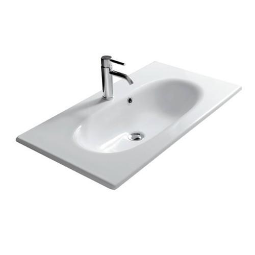 Lavabo sospeso per il bagno cm 75 x 45 Ergo Galassia