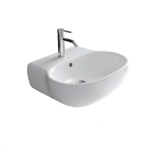 Lavabo sospeso per il bagno cm 70 x 48 Ergo Galassia