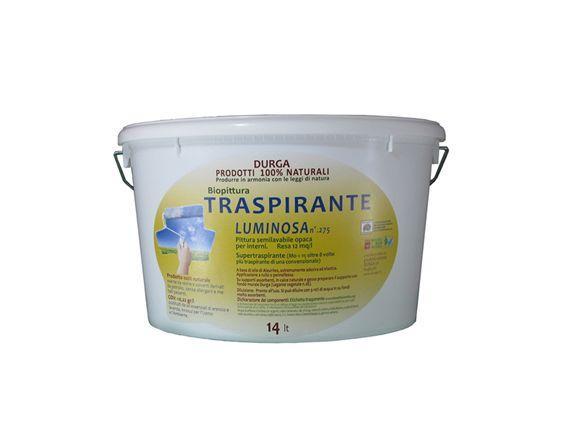 Pittura Supertraspirante a base di oli Vegetali Luminosa lt.7 DURGA