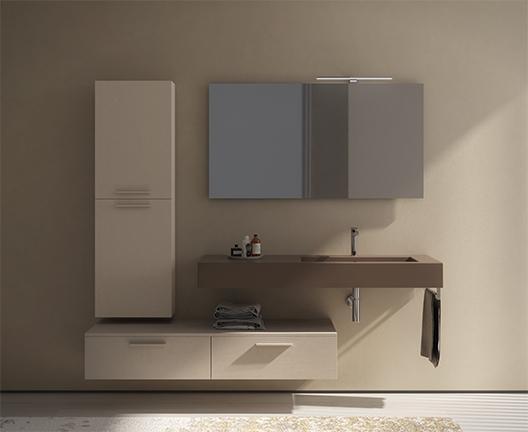 Lavabo sospeso per il bagno cm 136 x 51 Incantho Globo