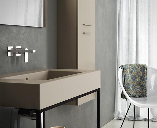 Lavabo sospeso per il bagno cm 101 x 51 Incantho Globo