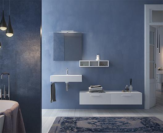 Lavabo sospeso per il bagno cm 71 x 51 Incantho Globo