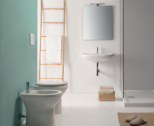 Lavabo sospeso per il bagno cm 65 x 55 Arianna Globo