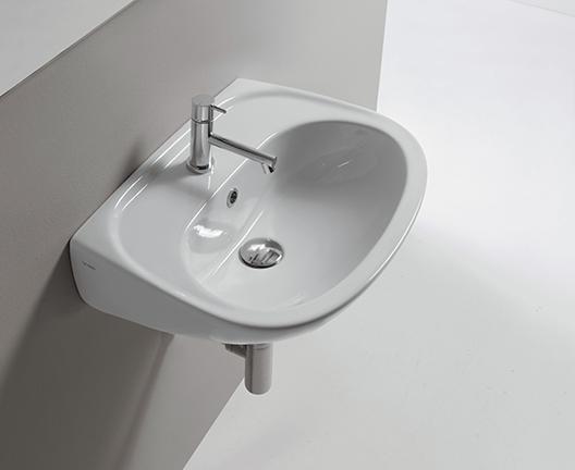 Lavabo sospeso per il bagno cm 55 x 42 Arianna Globo