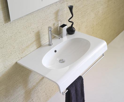 Lavabo sospeso per il bagno cm 80 x 50 Bowl+ Globo