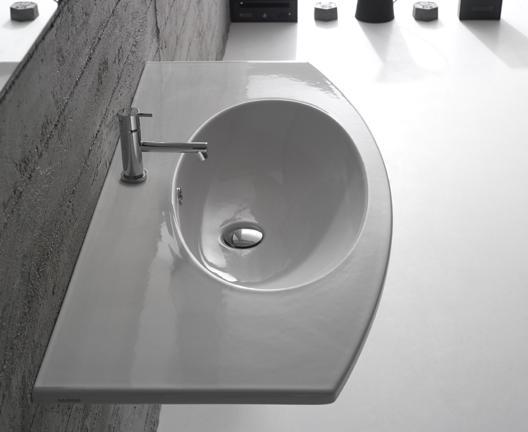 Lavabo sospeso per il bagno cm 100 x 48 4All Globo
