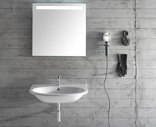 Lavabo sospeso per il bagno cm 80 x 48 4All Globo