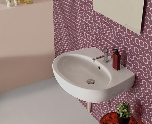 Lavabo sospeso per il bagno cm 65 x 52 Grace Globo