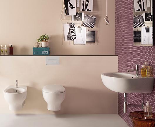 Lavabo sospeso per il bagno cm 55 x 42 Grace Globo