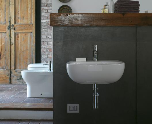 Lavabo sospeso per il bagno cm 45 x 36 Grace Globo