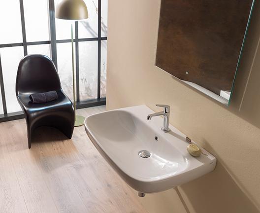 Lavabo sospeso per il bagno cm 60 x 50 Genesis Globo