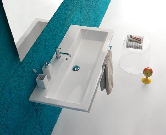 Lavabo sospeso per il bagno cm 100 x 47 Forty3 Globo