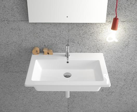 Lavabo sospeso per il bagno cm 70 x 47 Forty3 Globo