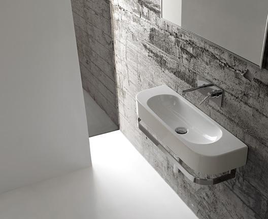 Lavabo sospeso per il bagno cm 70 x 27 Forty3 Globo