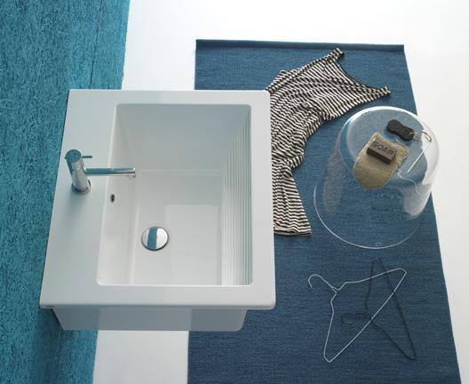 Lavabo sospeso per il bagno cm 60 x 50 Forty3 Globo