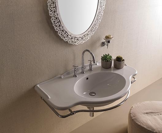 Lavabo sospeso per il bagno cm 110 x 60 Paestum Globo