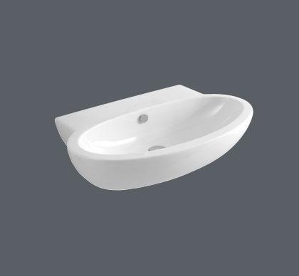 Lavabo sospeso per il bagno cm 65 x 50 Comoda Azzurra